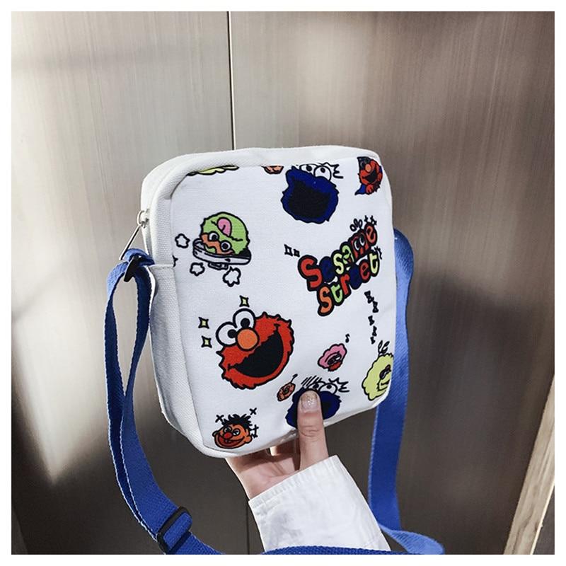Shoulder bag female cartoon fashion children canvas bag outdoor cell phone small satchel bag