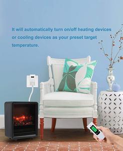 Image 5 - Nashone термостат Управление ЖК дисплей температуры Управление; РЧ беспроводной комнатный термостат обогрева пола 230V приз термостат Chauffage