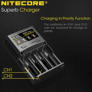 Image 3 - NITECORE SC4 Intelligent Faster Charging Superb Charger with 4 Slots 6A Total Output Compatible IMR 18650 14450 16340 AA Battery