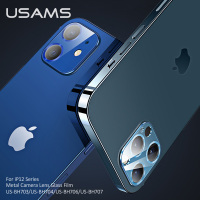 USAMS Back Lens Tempered Glass For iPhone 12 Pro Max Camera Protector Protective Film Glass Screen Case Cover For Iphone 12 mini