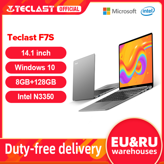 "Teclast f7s 14.1 ""portátil notebook 8gb ram 128gb rom laptops intel apollo lago duplo wifi computador 1920×1080 ips windows 10 1"