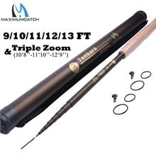 Maximumcatch 9-13FT 7:3 Telescoping Tenkara Fly Fishing Rod Fast Action 9 Segments Fly Rod