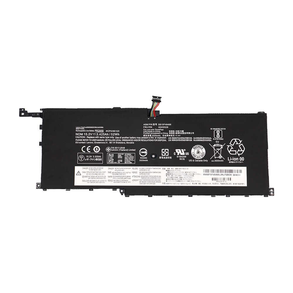 Batteria Del Computer Portatile Per Lenovo ThinkPad X1 Carbonio 00HW028 X1C yoga SB10F46467 20FB002VGE 20FB003RGE 20FB0043GE SB10F46466 15.2V 52Wh