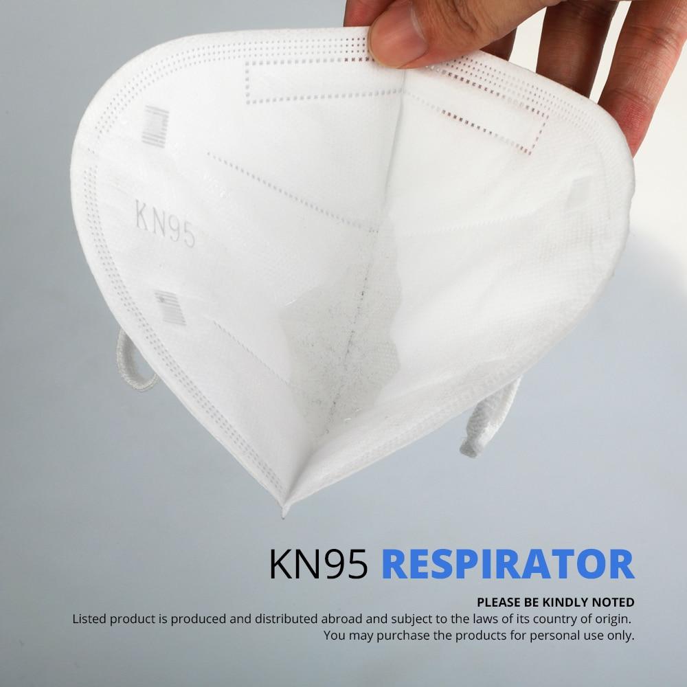 Image 4 - 50 шт. KN95 PM2.5 противотуманная Пыленепроницаемая защитная  маска для лица анти туман 5 слоев фильтрующая маска для рта нетканые  защитные маски от пыли N95Маски