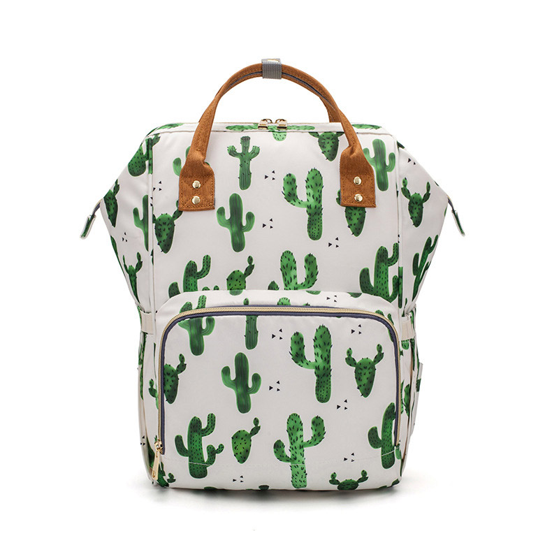 Baby Diaper Backpack lequeen Cactus Sunflower Print Changing Nappy Mummy Bag Maternity Large Capacity Baby Stroller Bags