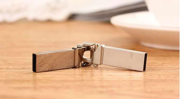 Nuovo arrivo In Metallo pendrive USB Flash Drive 128GB 64GB 32GB 16GB 8GB di Memoria flash del bastone usb gancio chiave pen drive mini usb bastone