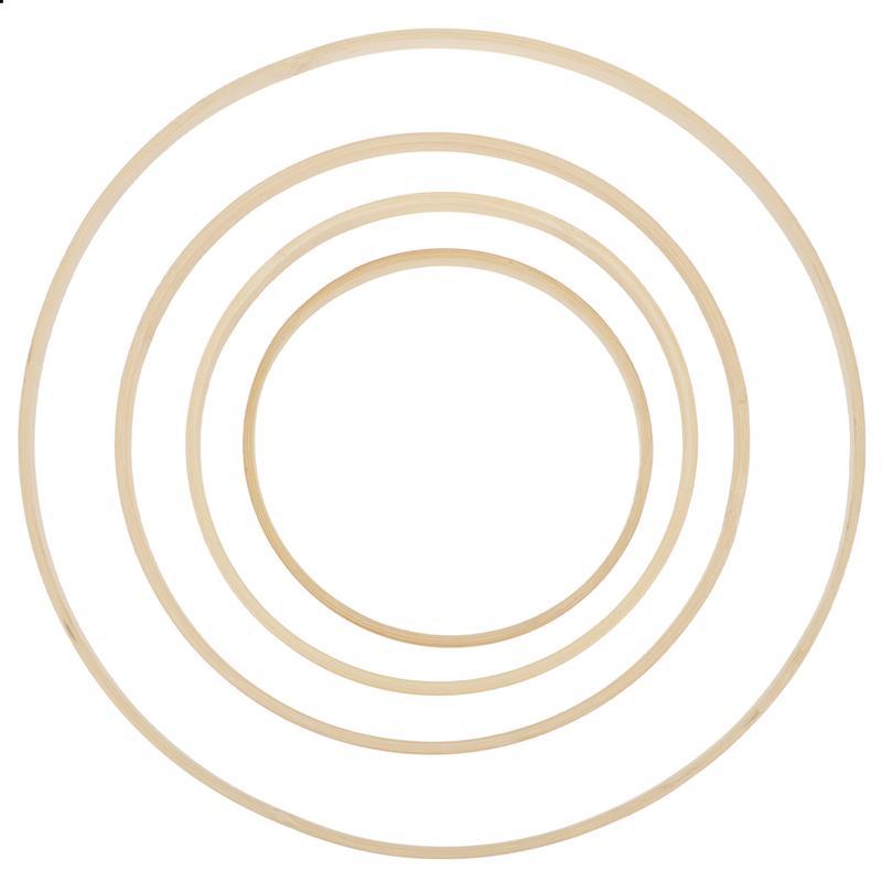 8 pièces/ensemble en bois bambou cerceau artisanat cerceau anneau pour décoration de couronne de mariage bricolage