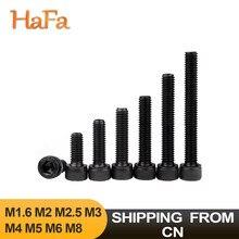 5/10/20/50 шт. M1.6 M2 M2.5 M3 M4 M5 M6 M8 Шестигранная головка с шестигранным отверстием головка винт с полной резьбой черный класс 12,9 сталь шестигранные б...