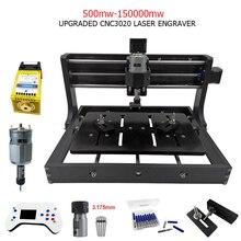 Cnc3020 máquina de gravação a laser 3 eixos fresagem de madeira corte roteador diy gravador a laser suporte offline controle 0.5w 15w potência