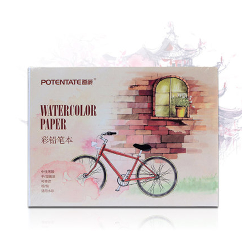 POTENTATE Watercolor Paper Sketchbook 12 Sheets Hand Painted Drawing Paper Transfer Watercolor Book for Aquarelle Paper Supplies
