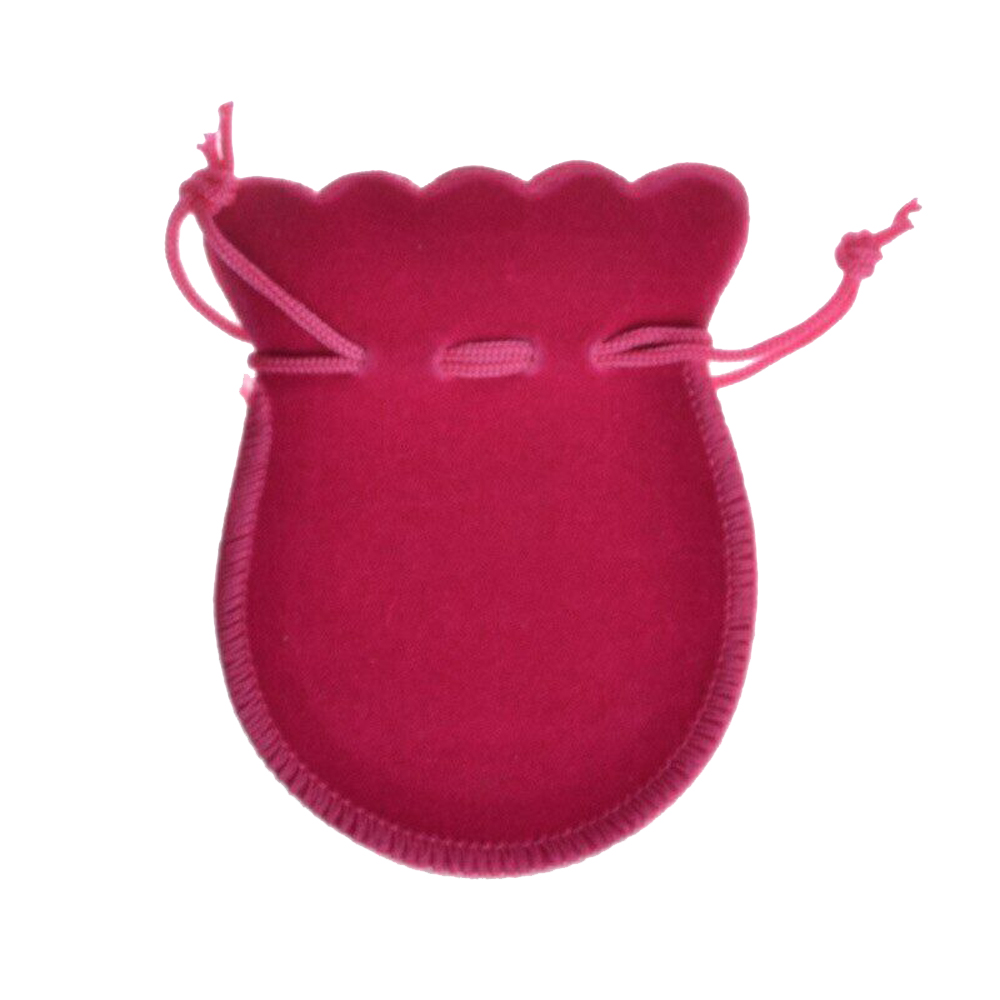 100Pcs/lot Mini Velvet Bag Store Jewelry Drawstring Calabash Pouch Ring Necklace Coin Jewelry Packing Organizer Bags 7x9cm
