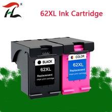 Substituição do cartucho de tinta recarregada de ylc 62xl para hp 62 xl hp 62xl para hp envy 5640 officejet 200 250 5540 5740 5542 7640 impressora