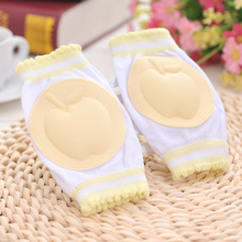 1Pair Baby Kneepad Girls Pink Knee Pads Cozy Cotton Breathable Sponge Children Elbow Pads Baby Toddler Knee Protector