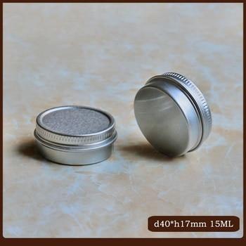 100pcs/lot 15g 25g Empty Aluminum Cosmetic Jar 0.3mm Thick Screw Lid 15ml 25ml Eyes Lip Balm Mask Tin Ointment Hand Cream Box