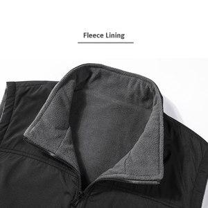 Image 5 - Casual Autumn Winter Fleece Mens Vest Black Sleeveless Mens Vest  5XL Warm Thick Mens Vest Jacket Chaleco Gilet