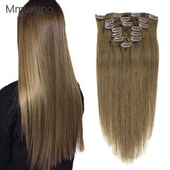 100g  #8 human hair clip piece
