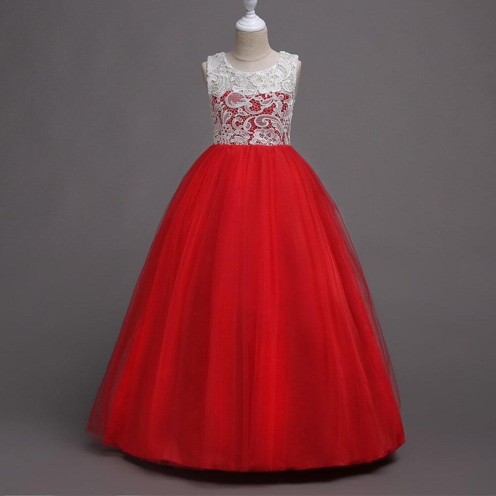 Kids Dress CHILDREN'S Dress Princess Dress Girls Piano Costume Sleeveless Mesh Dress