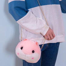 20CM new cute hamster head plush animal toy unicorn purse crossbody children girl birthday gift sanrio WJ159