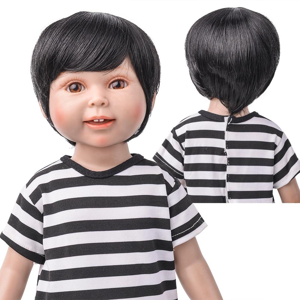 MUZI Doll Wigs for 18 American Dolls White Short Hair Little Boy Doll Wig