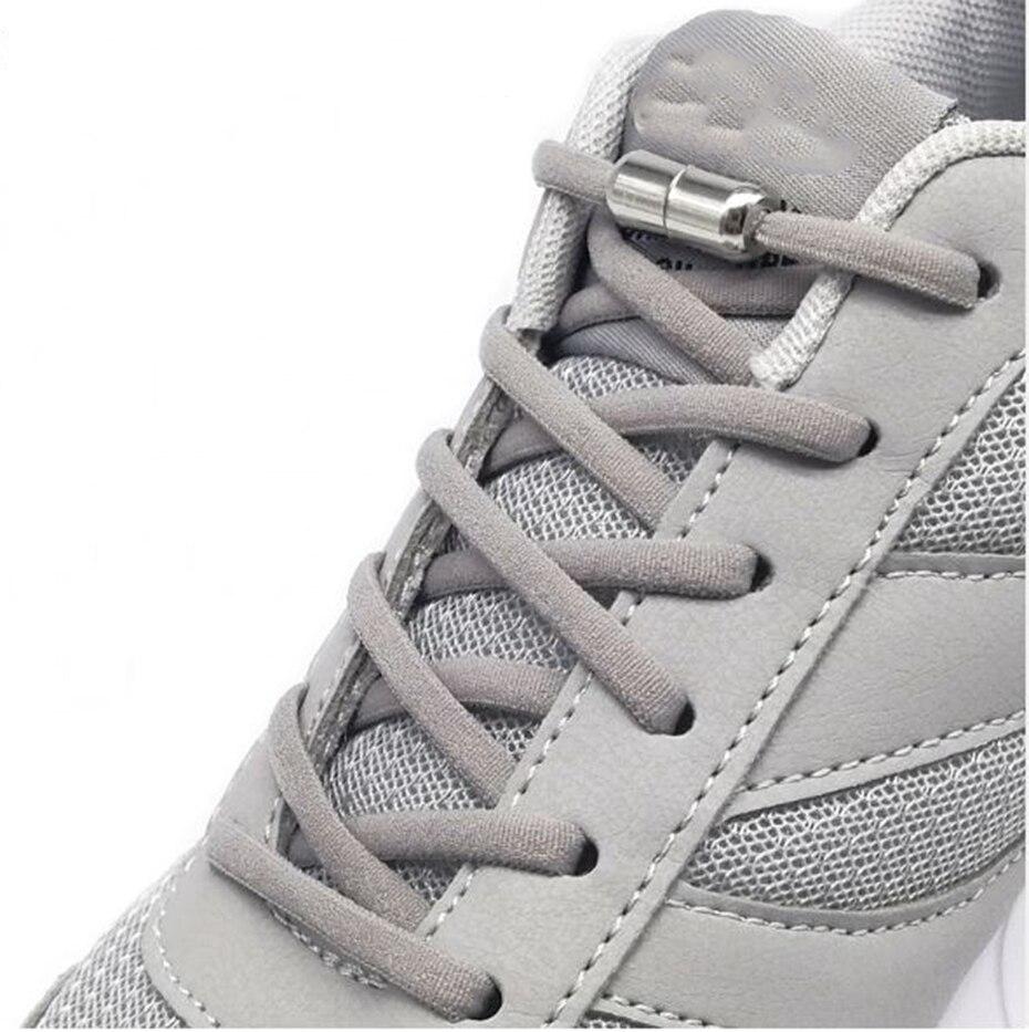1Pair Lazy No Tie Shoe Laces Shoestrings Sneaker Shoelaces Metal Capsule Button