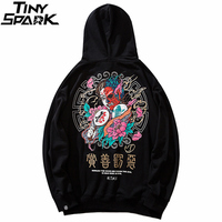 Men Hip Hop Hoodie Sweatshirt Good And Evil Print 2019 Streetwear Hoodie Harajuku Kanji Pullover Sweat Shirt Black Autumn Cotton