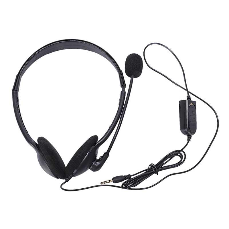 3.5Mm Wired משחקי אוזניות משחק אוזניות מיקרופון סרט עם מיקרופון סטריאו בס עבור מחשב מחשב פלייסטיישן 4 Ps4