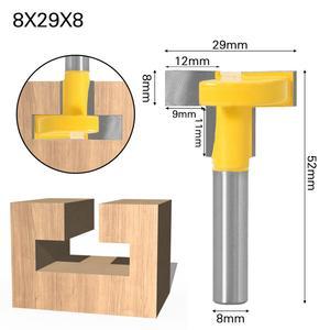 """Image 2 - Enrutador de ranuras en T y t track de alta calidad, caña para trabajar la madera, cortador de cinceles de 8 """"y 8"""", 1 Uds."""