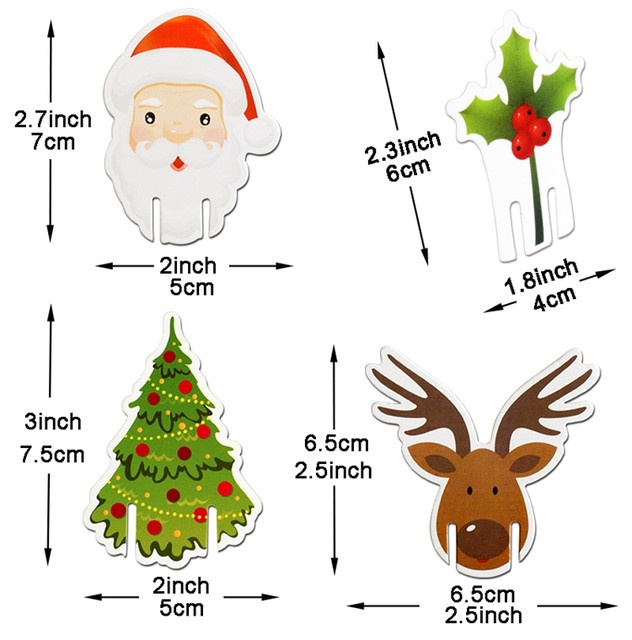 10pcs Santa Claus Snowman Tree Wine Glass Cards 2019 Merry Christmas Decoration For Home Table Ornaments Xmas Gift 2020 New Year 17