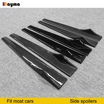 Dummy Carbon Fiber Side Skirts For BMW E60 F22 F10 F01 G30 Z4 E89 For Mercedes CLS E300 A200 A260 For Audi A1 S3 TT A7 SLine RS5 image