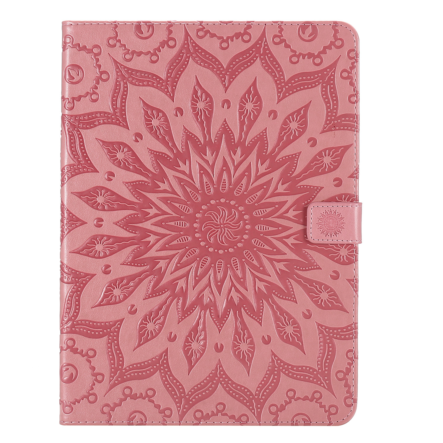 1 White Flower 3D Embossed Cover for iPad Pro 12 9 Case 2020 Leather Protective Shell Skin for