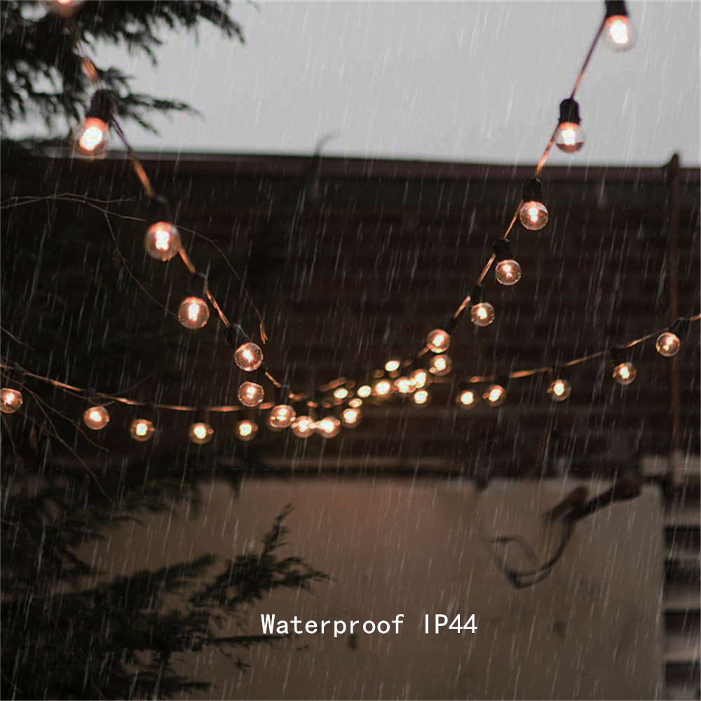 Image 5 - Solar String Lights With 10/25 Clear LED Bulbs Vintage Backyard Patio Holiday Home Lights Waterproof Hanging Lights Decoration-in Solar Lamps from Lights & Lighting