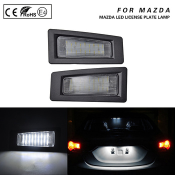 цена на 2Pcs LED Number License Plate Light Lamps For Mazda 3 (Gen3,as Axela)2014-2018 CX-3 2016-up