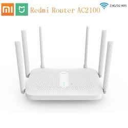 Xiaomi Redmi AC2100 Router Gigabit Wireless Dual-Band Router Wifi Ripetitore con 6 Antenne Ad alto guadagno Una Più Ampia Copertura Facile configurazione