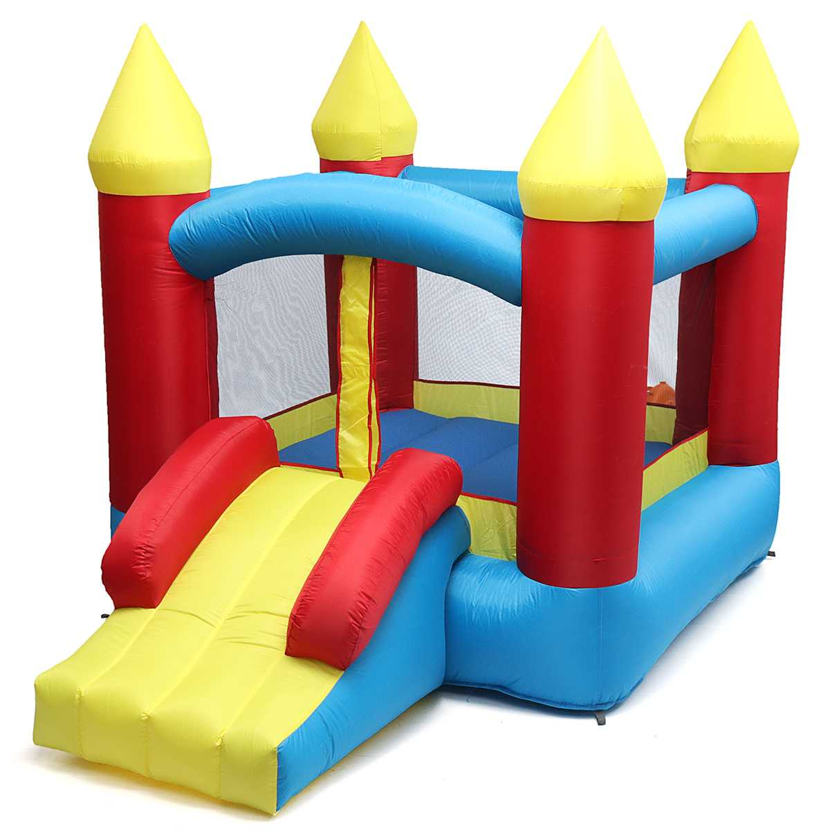 Kids Inflatable Moonwalk Bounce House Jumper Bouncer Jump Bouncy Castles With Slide Outdoor Children's Playground