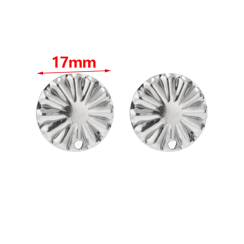 10 pcs Hypoallergenic! 304 Stainless Steel Gold Circle Round Bezel Cabochon Pendant Tags Trays 12mm Glue Pad Single Loop