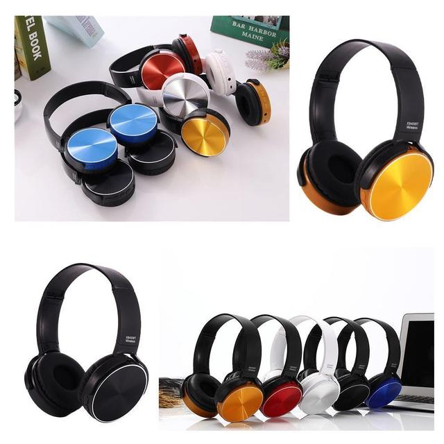 450BT Active Noise Cancelling Wireless Bluetooth Headphones with Ear Bass Stereo Mic Headset Headphone Deep Over Bluetooth R6N7