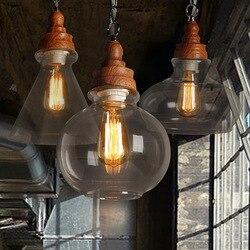 Ciągły System wiejska zachodnia restauracja kawiarnia Toggery studium sypialnia osobowość zwięzłe szkło zbożowe żyrandol luminaria w Wiszące lampki od Lampy i oświetlenie na
