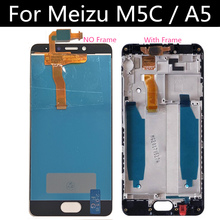 For Meizu M5C M710H LCD Display+Touch Screen  Digitizer Assembly Replacement FOR Meizu  Meilan A5 LCD test ok original lcd display touch screen digitizer assembly for meizu 2 mx2 mx 2 m040 black white free shipping tracking code