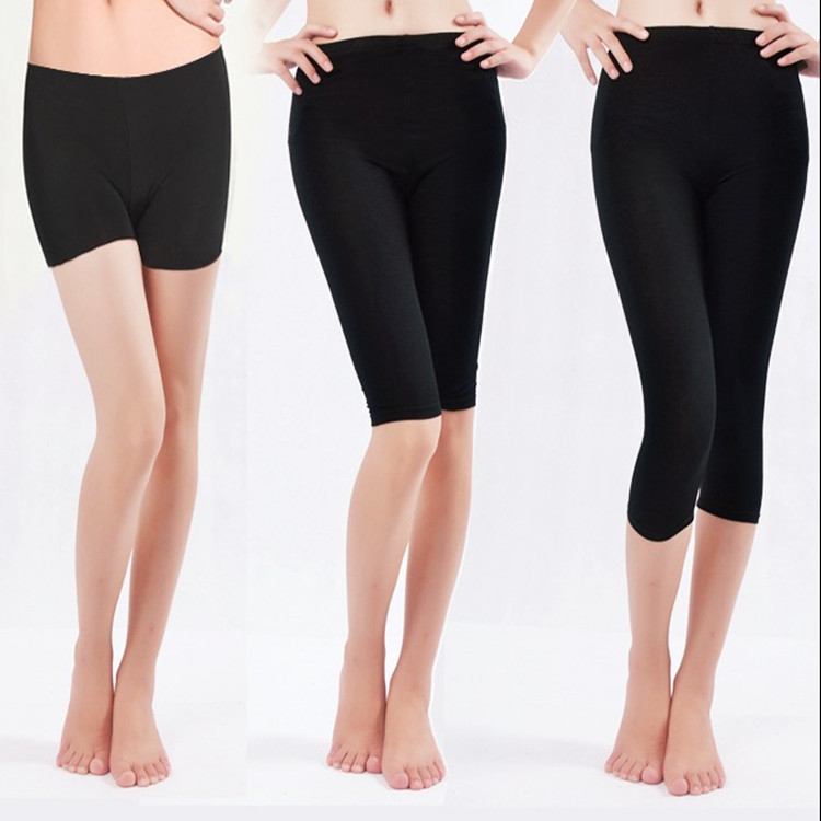 Yiwu Hot Selling Summer Modal Cotton Short Leggings Tight Black Insurance Safety Shorts Women's Plus-sized