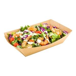 Бесплатная доставка-товары для общественного питания для вечеринок, контейнеры для ресторана из крафт-бумаги, 50/упаковка