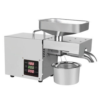 цена на Cold And Hot Home Automatic Oil Presser Stainless Steel Oil Press Machine Soybea Peanuts Seed Oil Extractor 220V
