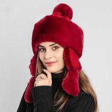 Cap Hat Bomber-Hats Ski-Caps Winter Lei Feng Earmuffs Velvet Warm Outdoor-Riding Plus