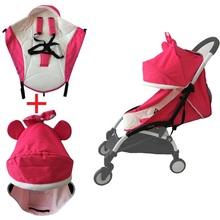 Stroller accessories winter use seat cushion and hood sun shade cover pram mattress for babyzen yoyo Yoya Babytime babysing