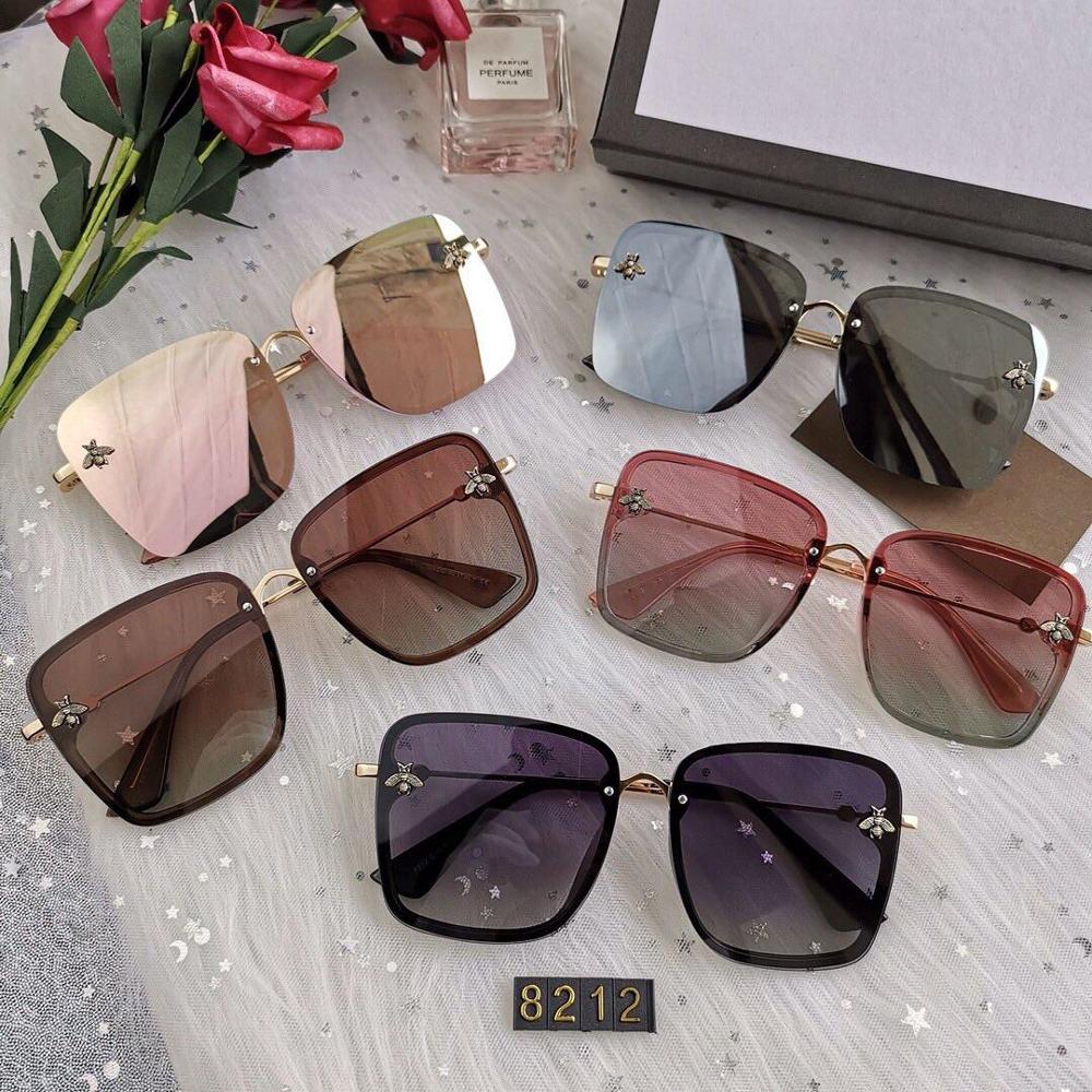 Bee Sunglasses Oculos Metal-Frame Men Retro Women Brand Designer Square Oversized Grandient-Shades