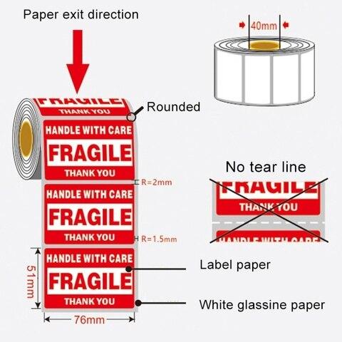fragil adesivos auto adesivo embalagem caixa exterior manusear com cuidado aviso gratis