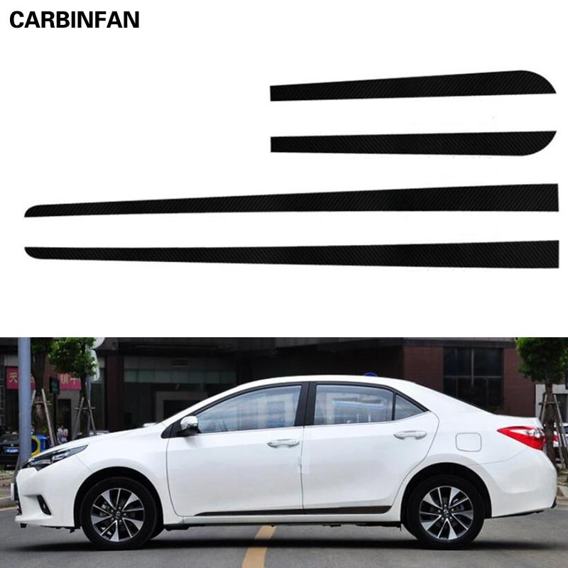 Sticker stripe Decals for Toyota corolla sport mirror tail 2012 2014 side light
