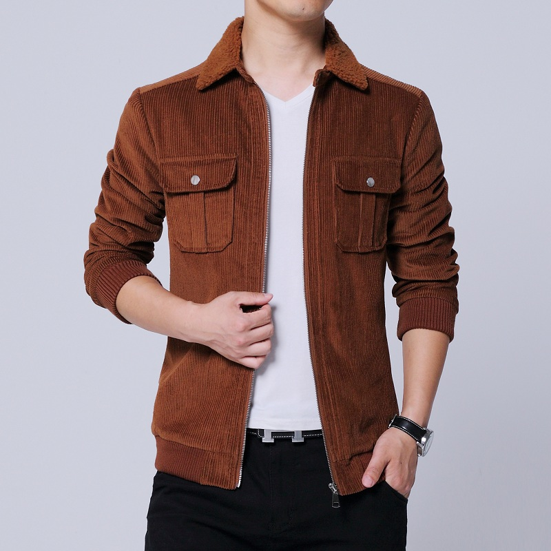 2019 autumn new men 39 s corduroy jacket men 39 s fashion casual lapel jacket large size S 5XL men 39 s brown cotton wild casual jacket in Jackets from Men 39 s Clothing