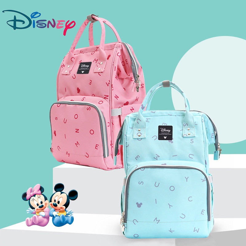 Disney Carriage Bags Large Capacity Maternal Diaper Bag USB Baby Stroller Mummy Nursing Care Organizer Backpack Travel Letter