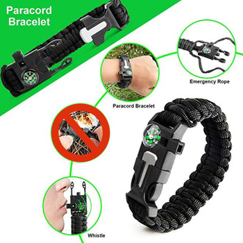 13 in 1 Outdoor Emergency Survival kit Tactical SOS, EDC with Flashlight Compass Knife Laser pointer 4