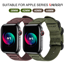 цена на Hot Sell Nylon Watchband for Apple Watch Band Series 4/3/2/1 Sport Bracelet accessories 42 mm 38 mm 40mm 44mm Strap For iwatch
